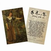 Saint Joan of Arc Holy Card