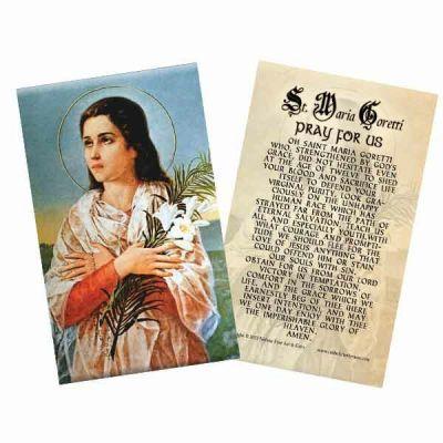 Saint Maria Goretti Laminated Holy Card -  - HC-293