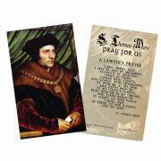 Saint Thomas More Holy Card