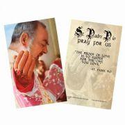 Saint Padre Pio Holy Card