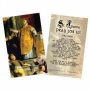 Saint Ignatius of Loyola Holy Card