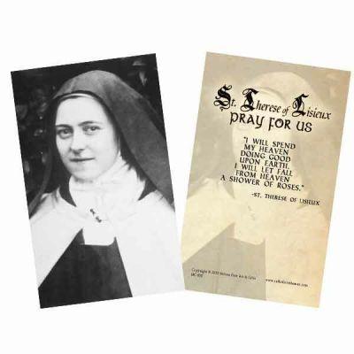Saint Therese (Portrait) Holy Card -  - HC-855