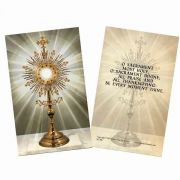 Monstrance Holy Card Scripture Verse On The Back