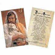 Good Shepherd Holy Card Scripture Verse On The Back