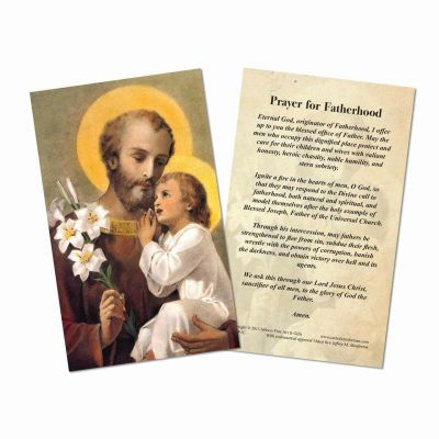 Prayer for Fatherhood Holy Cards -  - HC-SP2C
