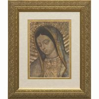 Our Lady of Guadalupe Bust Matted - Gold Framed Wall Art