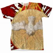 Holy Spirit Burnt Graphic Poly T-Shirt