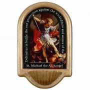 Saint Michael the Archangel Prayer Church Holy Water Bowl Font
