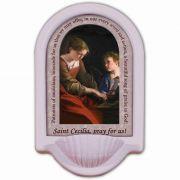 Saint Cecilia Prayer Church Holy Water Bowl Font