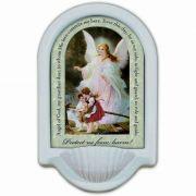Guardian Angel Prayer Church Holy Water Bowl Font II