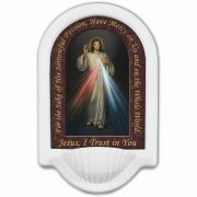 Divine Mercy Prayer Church Holy Water Bowl Font