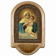 Schoenstatt Madonna Church Holy Water Bowl Font