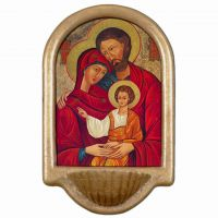 Holy Family Icon Church Holy Water Bowl Font