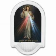 Divine Mercy Jesus I Trust in You Church Holy Water Bowl Font