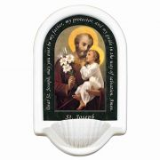 Saint Joseph (Younger) Prayer Church Holy Water Bowl Font