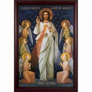 King of Divine Mercy Cherry Framed Wall Art
