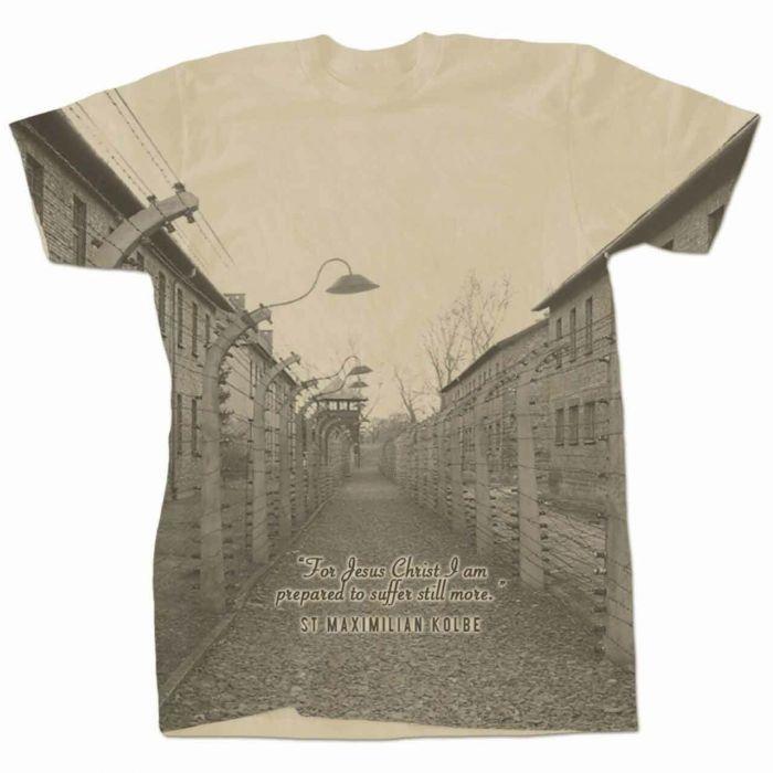 95090c9f Christian T-Shirts & Tops : Saint Maximilian Kolbe Auschwitz ...