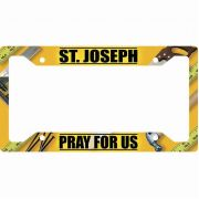 Saint Joseph Pray for Us License Plate Frame