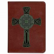 Personalized/Custom Text Bible w/ Celtic Cross Cover - Burgundy RSVCE