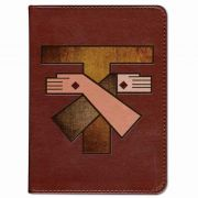 Personalized/Custom Text Bible w/Franciscan Crest Cover Burgundy RSVCE