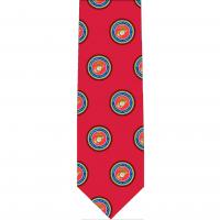 Marine Pattern Glossy Poly Satin Necktie