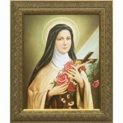 Saint Therese of Lisieux - Gold Framed Wall Art