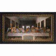Last Supper by Da Vinci - Ornate Dark Framed Wall Art