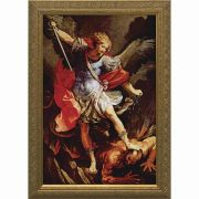 Saint Michael the Archangel - Gold Framed Wall Art