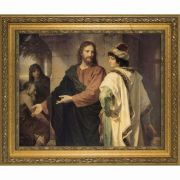 Christ and the Rich Young Ruler Framed Wall Art