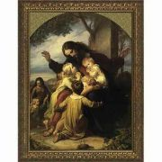 Jesus with the Children - Gold Framed Wall Art