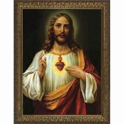 Italian Sacred Heart of Jesus Framed Wall Art