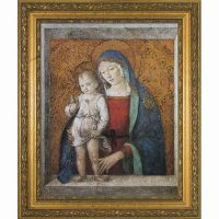 Madonna & Child Gold Framed Wall Art