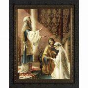 Wedding of Joseph and Mary - Ornate Dark Frame