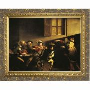 The Calling of St. Matthew (Caravaggio) - Ornate Gold Framed Wall Art