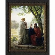 Woman at the Well - Ornate Dark Framed Wall Art
