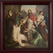 Jesus Healing the Daughter of Jairus Framed Wall Art