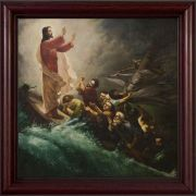 Calming the Storm Wind and Waves of Sea of Galilee Framed Wall Art