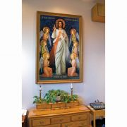 King of Divine Mercy Church-Sized Canvas Framed Wall Art