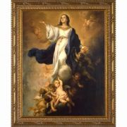 Assumption of the Virgin by Murillo - Ornate Gold Framed Wall Art
