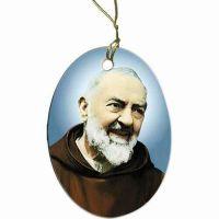 Saint Padre Pio Two-Sided Porcelain Christmas Ornament