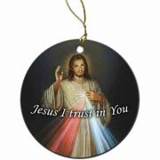 Divine Mercy Two-Sided Porcelain Christmas Ornament
