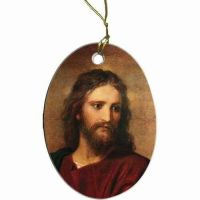 Christ at 33 Two-Sided Porcelain Christmas Ornament