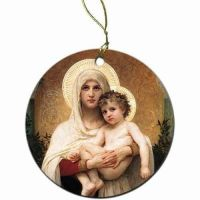 Madonna of the Roses Christmas Ornament