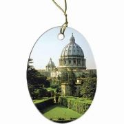 Vatican Gardens Two-Sided Porcelain Christmas Ornament