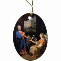 Annunciation II Two-Sided Porcelain Christmas Ornament