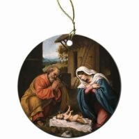 Nativity with Reaching Jesus Ornament