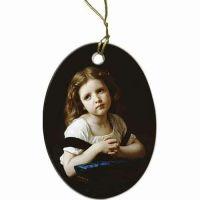 La Priere Two-Sided Porcelain Christmas Ornament