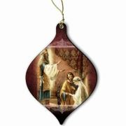 Wedding of Mary & Joseph Wood Ornament