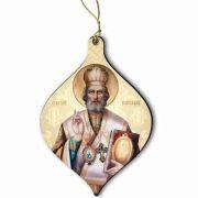Saint Nicholas Wood Ornament