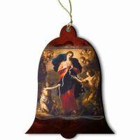 Mary Undoer of Knots Wood Ornament